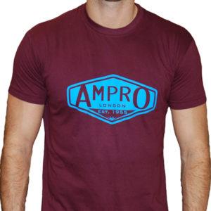 Ampro London Classic West Ham T-Shirt – Claret/Blue