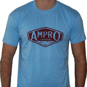 Ampro London Classic West Ham T-Shirt – Sky Blue/Claret