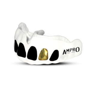 Ampro Custom Dentist Performance White Mouth Guard – Gold Tooth
