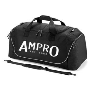 Ampro Teamwear Jumbo Kit Bag Holdall – Black/Light Grey