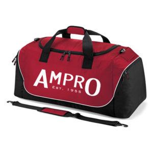 Ampro Teamwear Jumbo Kit Bag Holdall –  Classic Red/Black/White