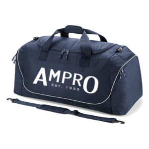 Ampro Teamwear Jumbo Kit Bag Holdall –  French Navy/Light Grey