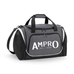 Ampro Pro Team Locker Bag – Graphite Black/White
