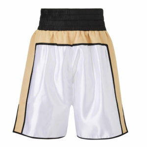 Anthony Joshua Gold, White & Black Boxing Shorts