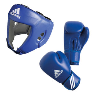 adidas AIBA Boxing Set – Glove + Headguard – Red
