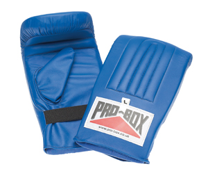Pro-Box Full Contact Pre-Shaped Punchbag Mitts – Blue