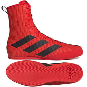 Adidas Box Hog 3 Boxing Boots – Red/Black