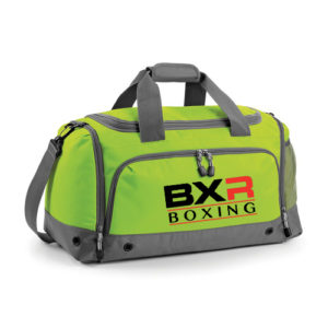 BXR Boxing Kit Holdall – Lime/Grey