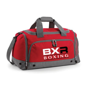 BXR Boxing Kit Holdall – Red/Grey
