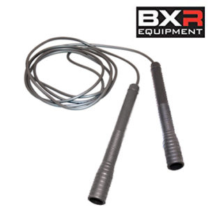 BXR TrickStar Speed Jump Rope – 9ft Silver/Silver