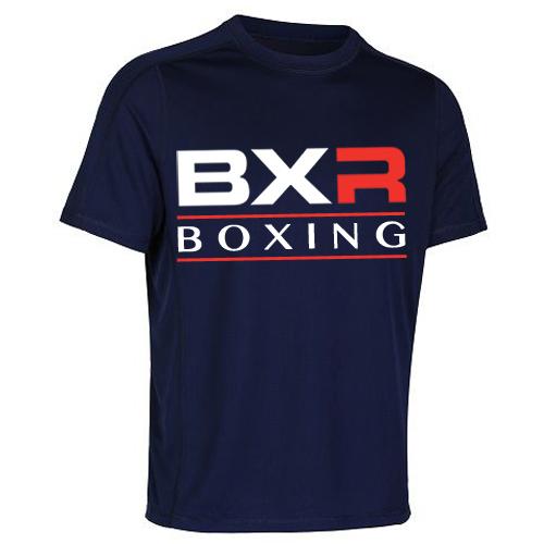 BXR Boxing Cool-Tec Training T-Shirt – Navy Blue