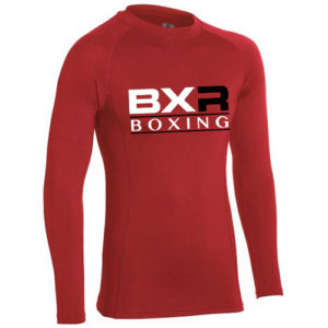 BXR Boxing Performance Base Layer Long Sleeve Top – Red