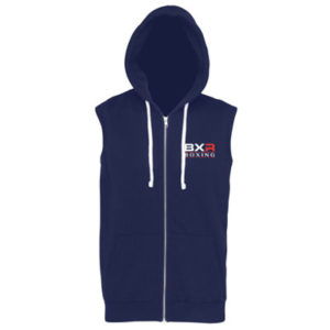 BXR Boxing Sleeveless Zoodie – Navy