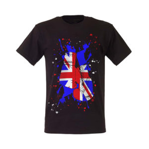 Boxing Gloves Great Britain Paint Splat T-Shirt – Black/Blue