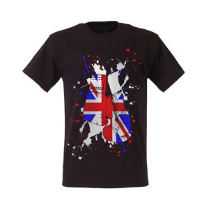 Boxing Gloves Great Britain Paint Splat T-Shirt – Black/White