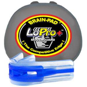 Brain-Pad Lo-Pro+ Plus Junior/Kids Double Mouthguard – Clear/Blue