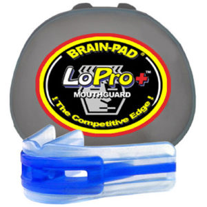 Brain-Pad Lo-Pro+ Plus Senior/Adult 12+ Double Mouthguard – Clear/Blue