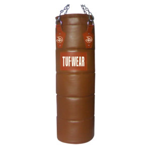 Tuf-Wear 4ft Quilted Leather Punch Bag – Classic Brown