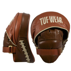 Tuf-Wear Curved Focus Hook and Jab Pads – Brown