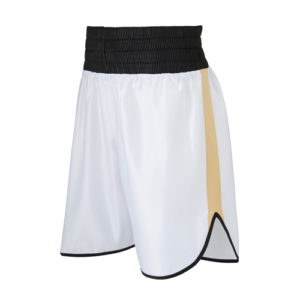Burnett White & Gold Boxing Shorts