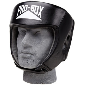 Pro-Box Club Essentials Leather Headguard – Black
