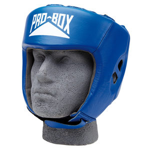 Pro-Box Club Essentials Leather Headguard – Blue