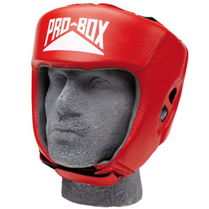 Pro-Box Club Essentials Leather Headguard – Red