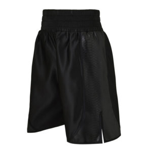 Chisora Black Satin and Faux Leather Snake Skin Boxing Short