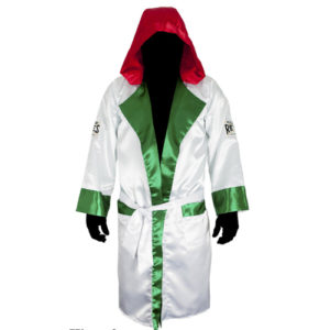 Cleto Reyes Sating Boxing Robe with Hood – Mexican Style