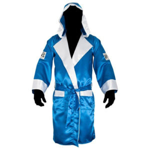 Cleto Reyes Sating Boxing Robe with Hood – Blue/White