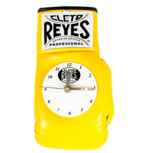 Cleto Reyes Boxing Glove Clock – Yellow