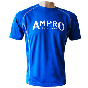 Ampro Junior Performance Training Tee – Blue