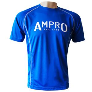 Ampro Junior Performance Training Tee – Blue