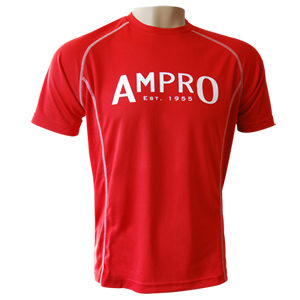 Ampro Performance Training Tee – Red