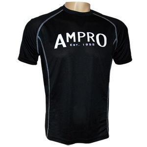 Ampro Performance Training Tee – Black