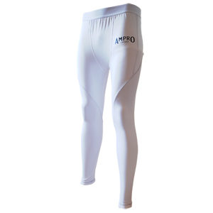 Ampro Junior Performance Base Layer Tights – White