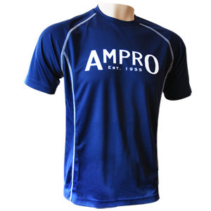Ampro Junior Performance Training Tee – Navy