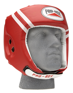 Pro-Box 'Club Essentials' Headguard – Red/White