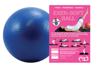 Fitness-Mad Exer-Soft Ball 7inch (Blue)