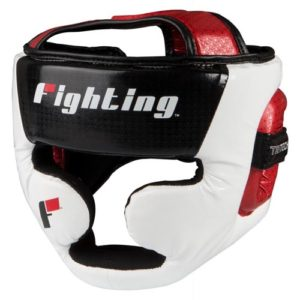Fighting Sports Tri-tech Fascinate Cheek Headguard – Black/White/Red