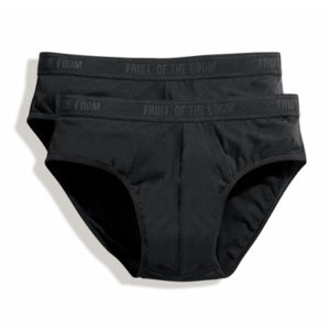 Fruit Of The Loom Classic Boxer Shorts 2 Pair Pack – Black