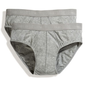 Fruit Of The Loom Classic Boxer Shorts 2 Pair Pack – Grey