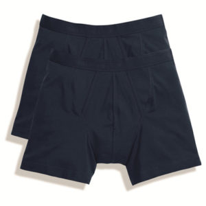 Fruit Of The Loom Classic Boxer Shorts 2 Pair Pack – Navy