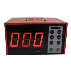 Tuf-Wear Electronic Boxing Gym Timer – Black/Red [2 or 3 min Rounds]