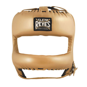 Cleto Reyes Headguard with Rounded Nylon Bar- Gold