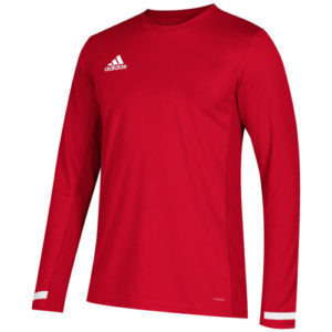 Adidas Men's T19 Long Sleeve Jersey – Red