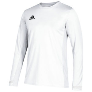 Adidas Men's T19 Long Sleeve Jersey – White