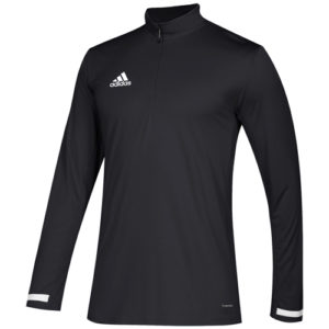 Adidas Men's T19 1/4 Zip Long Sleeve Top – Black