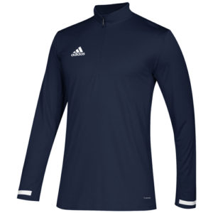 Adidas Men's T19 1/4 Zip Long Sleeve Top – Navy