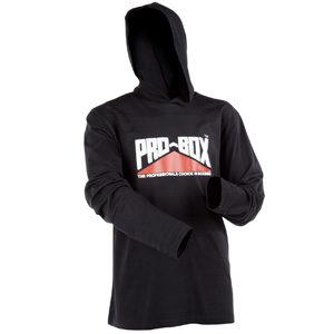 Pro-Box Hooded Long Sleeve Tee – Black